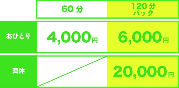 平日昼間(9:00~18:00)プラン-料金